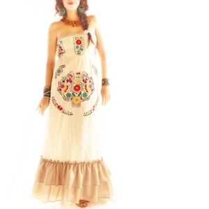 Mexican embroidered wedding fiesta dress boho chic